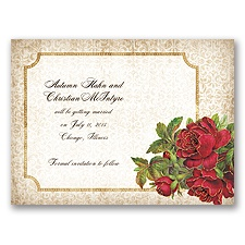 Antique Roses - Apple - Save the Date Card