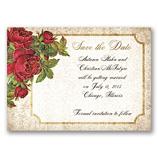 Antique Roses - Apple - Save the Date Magnet