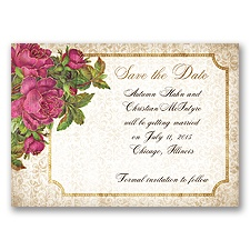 Antique Roses - Begonia - Save the Date Magnet