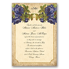 Antique Roses - Regency - Invitation