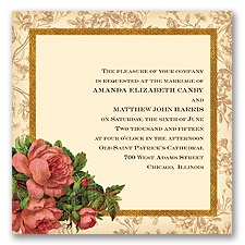 Rosie Romance - Coral Reef - Invitation