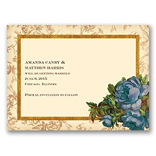 Rosie Romance - Lapis - Save the Date Card