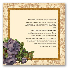 Rosie Romance - Plum - Invitation