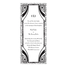 Deco Glamour - Black - Invitation