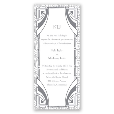 Deco Glamour - Silver -  Invitation