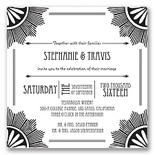 Roaring 20's - Black - Invitation