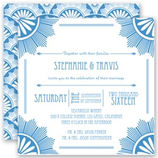 Roaring 20's - Cornflower - Invitation