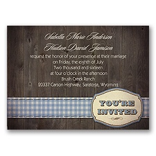 Country Fun - Blue - Invitation