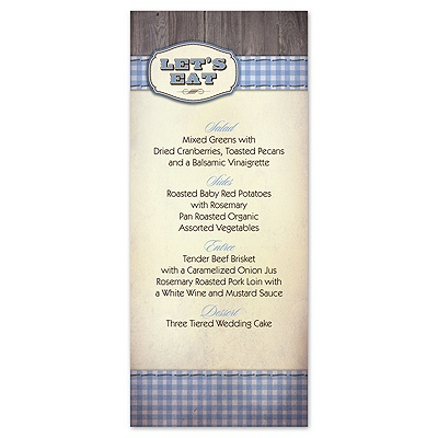 Country Fun - Blue - Menu Card