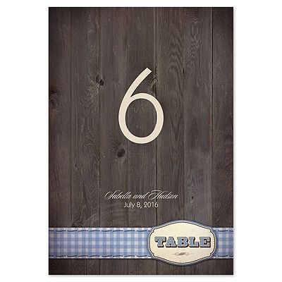 Country Fun - Blue - Table Number