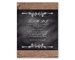 Rustic Chalkboard - Save the Date