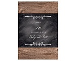 Rustic Chalkboard - Table Number