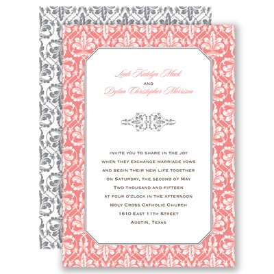 Vintage Frame - Coral Reef  - Invitation