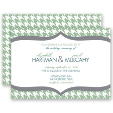 Happily Houndstooth - Clover - Invitation