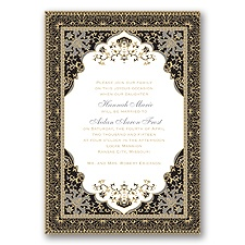 Moroccan Magic - Black - Invitation