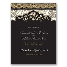 Moroccan Magic - Black - Save the Date