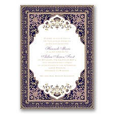 Moroccan Magic - Wisteria - Invitation