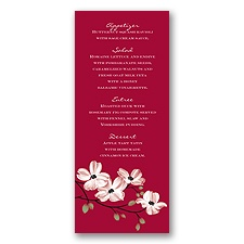 Dogwood Blossoms - Apple - Menu Card