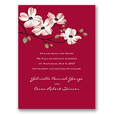 Dogwood Blossoms - Apple - Save the Date