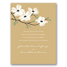 Dogwood Blossoms - Golden - Save the Date