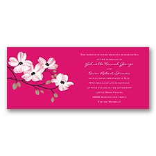 Dogwood Blossoms - Watermelon - Invitation