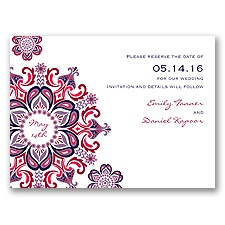 Particularly Paisley - Lapis - Save the Date