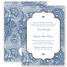 Happily Henna - Marine - Invitation