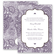 Happily Henna - Plum - Invitation