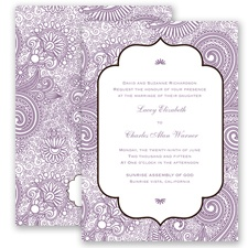 Happily Henna - Wisteria - Invitation