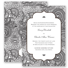Happily Henna - Black - Invitation