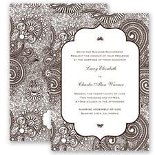 Happily Henna - Chocolate - Invitation