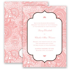 Happily Henna - Coral Reef - Invitation