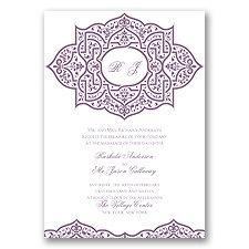 Indian Trellis - Wisteria - Invitation
