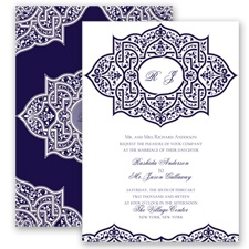 Indian Trellis - Lapis - Invitation