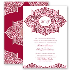 Indian Trellis - Apple - Invitation