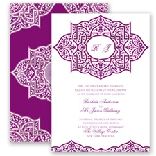Indian Trellis - Sangria - Invitation