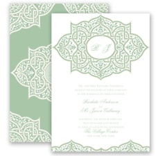 Indian Trellis - Meadow - Invitation