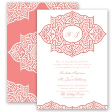 Indian Trellis - Coral Reef - Invitation