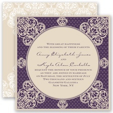 Mehndi Magic - Plum - Invitation