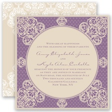 Mehndi Magic - Wisteria - Invitation