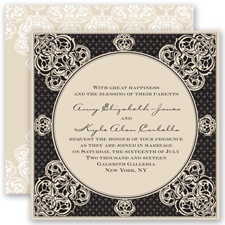 Mehndi Magic - Black - Invitation