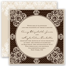 Mehndi Magic - Chocolate - Invitation