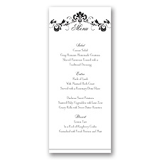 Epic Romance - Menu Card