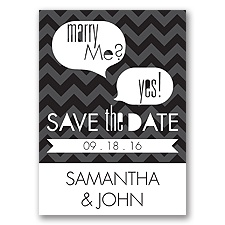 Marry Moment - Black - Save the Date Magnet