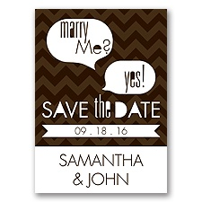 Marry Moment - Chocolate - Save the Date Magnet