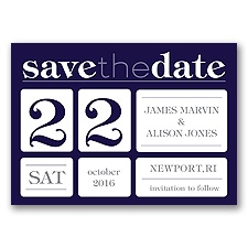 Delightful Date - Lapis - Save the Date Magnet