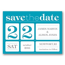 Delightful Date - Malibu - Save the Date Magnet