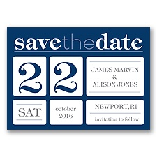 Delightful Date - Marine - Save the Date Magnet