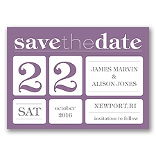 Delightful Date - Wisteria - Save the Date Magnet