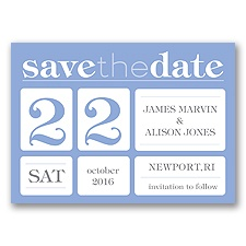 Delightful Date - Bluebird - Save the Date Magnet